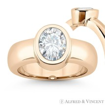 Forever Brilliant Oval Cut Moissanite Solitaire Engagement Ring in 14k Rose Gold - €671,61 EUR - €3.154,04 EUR