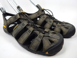Keen Clearwater Leather CNX Sport Sandals Men's Size 9 M EU 42 Magnet / Black