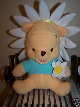 Disney Winnie the Pooh Bear Plush Daisy Flower Easter Stuffed Animal EUC - $14.00