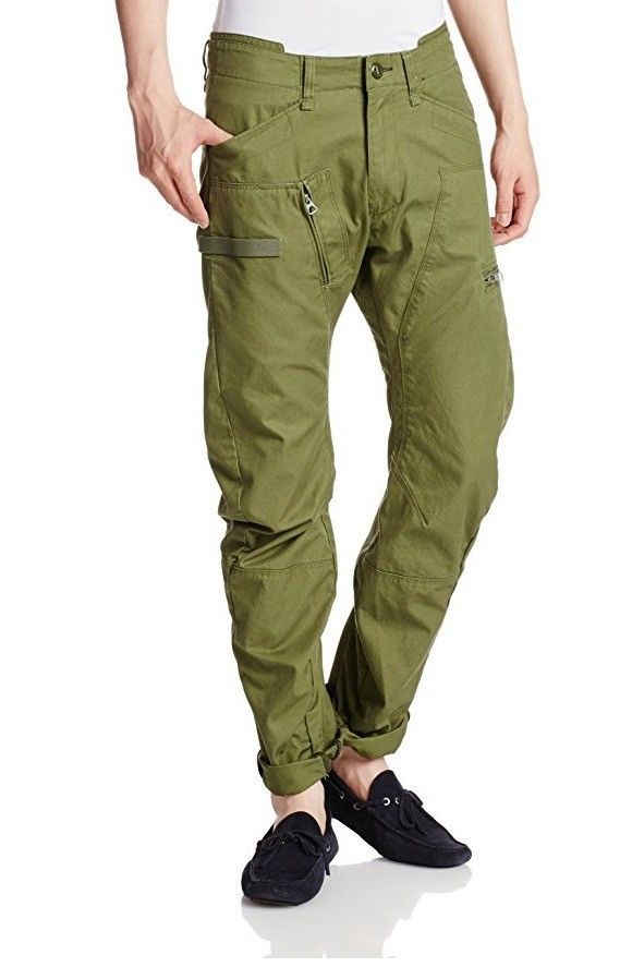 G Star Raw Powel Field 3D Tapered Cargo Pants in Sage, Size W33/ L30 BNWT $220 - $129.75