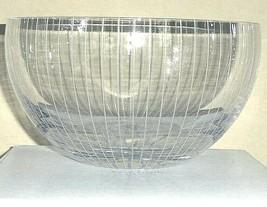 "Kate Spade Marlborough Street Peony Bowl 7.75"" Etched Pinstripes Lenox N... - $85.90"