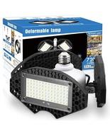 LED Garage Lights, Deformable LED Garage Ceiling Lights 7200 Lumens, CRI... - $37.19