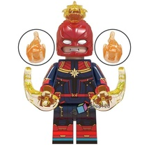 Captain Marvel with helmet Avengers Endgame Lego Minifigures Toy Gifts ... - $1.99