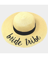 bride tribe  embroidery straw floppy sun hat thumbtall