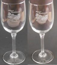 Mount Rushmore South Dakota Souvenir Collectible Wine Glass Set of 2 Ste... - $29.99