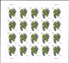 USA Postage Stamp sheet of twenty 2017 Grapes Issue 5 Cent Scott #5177 - $5.95