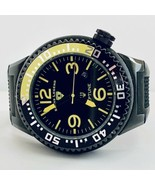 Swiss Legend Neptune Men's 52mm Black And Yellow Watch Excellent Condition! - $77.30