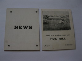 1958 Star Reporter Board Game Piece: News Card - Fox Hill - $1.00