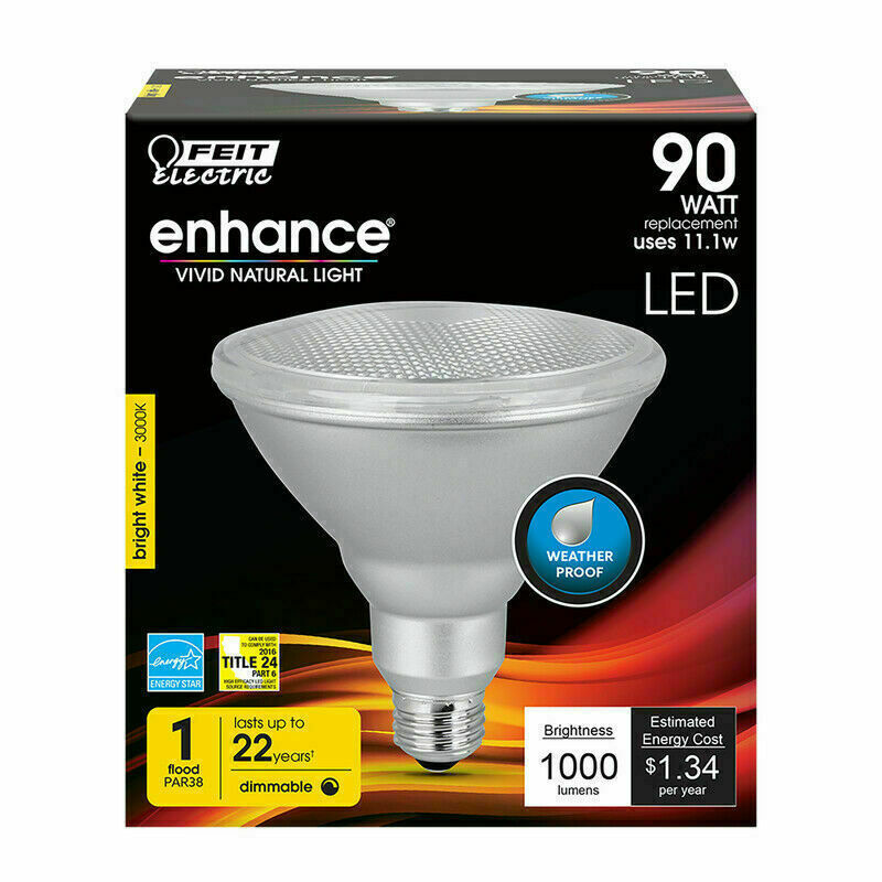 FEIT Electric PAR38DM/930CA LED 90 Watt Bulb 4 Pack, Bright White - NEW - $31.99