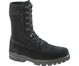 "Bates E0421 Men's1421 9"" US Navy Suede DuraShocks Steel Toe Black Boot 6 M - $167.31"