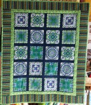 Iris Fantasy Quilted Throw - $65.00