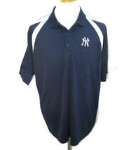 NY YANKEES Men's (Size Large) Blue & White Short Sleeve Polo Shirt New Y... - $12.95
