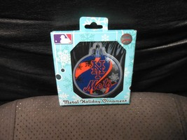 "Forever Collectibles ""New York Mets"" Flat Metal Ornament NEW - $8.42"