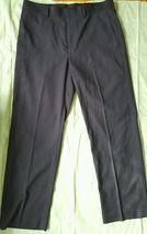 Perry Ellis Black Pin striped Men's Pants Bottoms Straight Leg 32x30 - $4.94