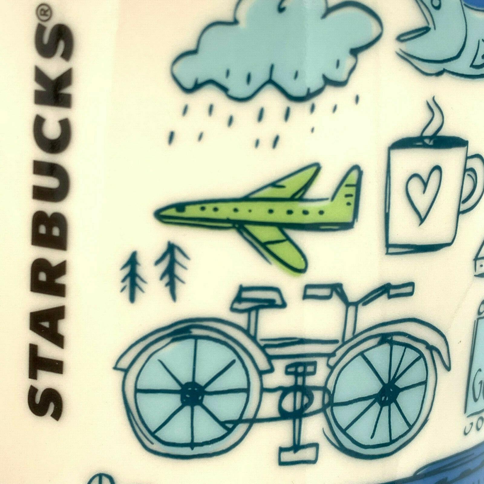 Starbucks Coffee Ceramic Mug Cup USA World Collection Coffee Tea Hot 14 oz Gift image 5