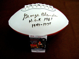 GEORGE BLANDA HOF 1881 1947-1975 OAKLAND RAIDERS SIGNED AUTO WILSON FOOT... - $395.99