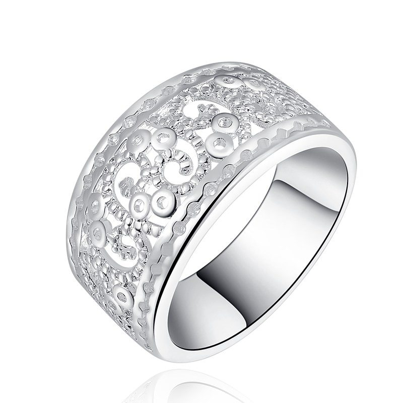 Primary image for charm wedding silver color  charm Beautiful new fashion Elegant Novel hollow Ret