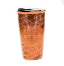 Starbucks Philadelphia Pennsylvania Brick Wall Ceramic Traveler Coffee C... - $41.58