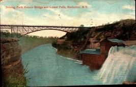 UDB POSTCARD-DRIVING PARK AVENUE BRIDGE & LOWER FALLS, ROCHESTER,  NY  BK22 - $3.68