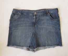 Lane Bryant Stretch Blue Jean Cutfoff Shorts (44 x 6) Size 22 - $22.24