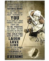 Remember To Be Awesome Poster, Hockey Poster, For Decor, Gift For Hockey... - $25.59+