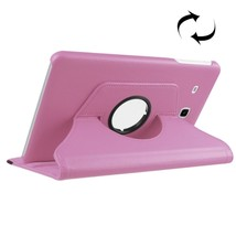 For Galaxy Tab 4 7.0 Pink Litchi Leather Case with 2-angle Viewing Holder  - $9.90