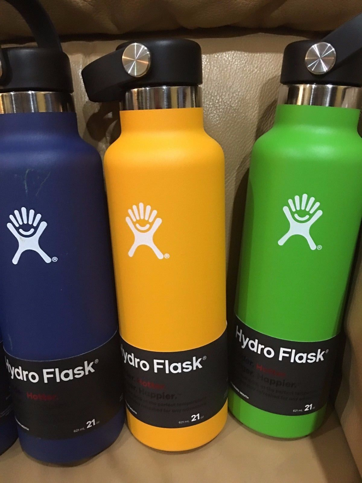 18oz or 21oz Hydro Flask Wide Mouth Red  blue yellow Cobalt Lime Green authentic image 3