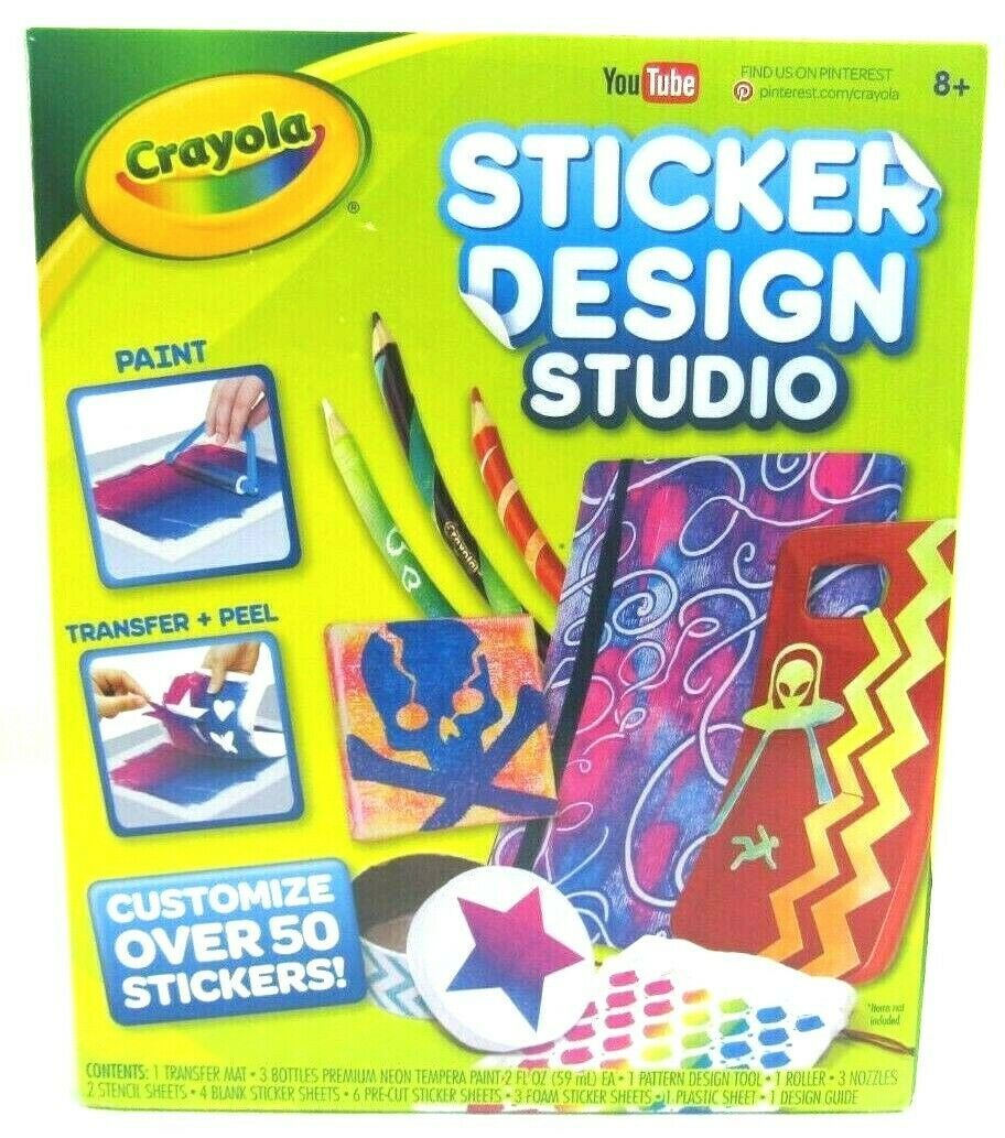 Primary image for Crayola Sticker Design Studio Transfer Your Designs Into Stickers (50+ Stickers)