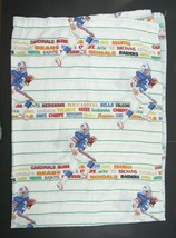 Vintage NFL Teams Twin Flat Sheet Clean Bibb USA Made AFC NFC Football  - $19.75