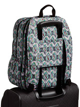 Vera Bradley Signature Cotton Campus Tech Backpack, Paisley Stripes image 6