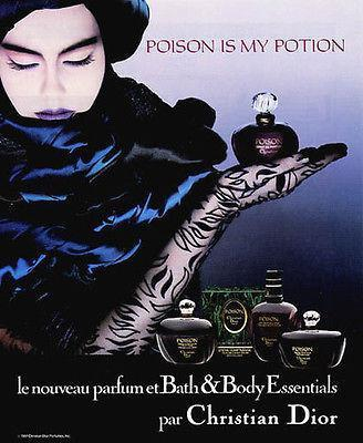Primary image for Perfume Ad 1987 Christian Dior Poison Is My Potion Perfume Sensual Mood