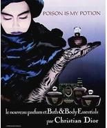 Perfume Ad 1987 Christian Dior Poison Is My Potion Perfume Sensual Mood - $18.99