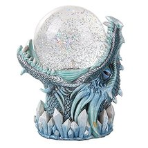 Frost Ice Dragon StormBall Iceburg Statue Sound Activated Gliter Sparkle - $39.59