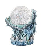 Frost Ice Dragon StormBall Iceburg Statue Sound Activated Gliter Sparkle - $52.60 CAD