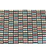 "Jukebox Fabric 17 x 22"" Arnolds Diner Cotton For Masks Lightweight Benatex - $9.89"