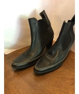 Art Effects Parma Black Leather High Heel Bootie Ankle Boots Brazil 9.5 ... - $25.00