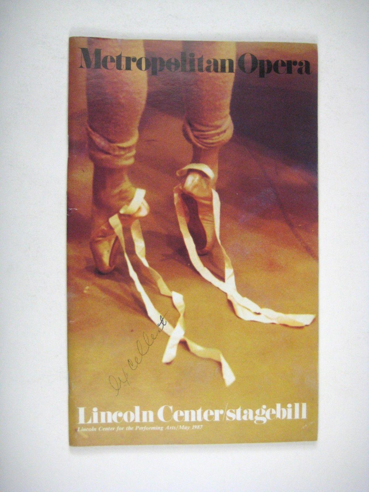 American Ballet Theatre Stagebill 1987 Lincoln Center Baryshnikov Gregory