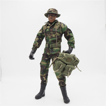 1/6 Scale Uniforms Coveralls Suit Woodland camo+hat Backpack B005 Action... - $26.00