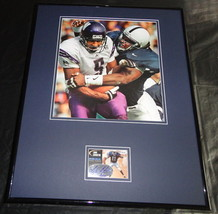 Lavar Arrington Signed Framed 16x20 Rookie Card & Photo Display SAGE PSU - $112.19
