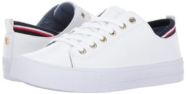 Tommy Hilfiger Women's Casual Lace-Up Leather Fashion Sneakers Shoes White