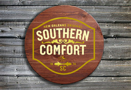 Southern Comfort - Barrel End Style Wooden Pub Sign - Hand Made Gift for... - $61.92