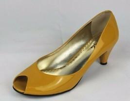 Bcbg Paris Quima Damen Ferse Stiletto Leder Oben Zehenfrei Gelb Größe 6.5M - $20.97