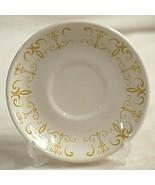 Homer Laughlin Restaurant Ware Deep Saucer Dish Gold Filigree Stoneware ... - $14.84