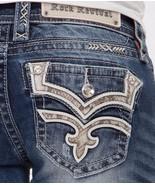 ROCK REVIVAL JEANS Low Rise Karla Faux Flap Straight Jean 28 X 33 READ D... - $51.39