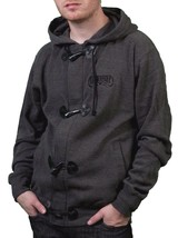 Iron Fist Mens Melcher French Rib Burnt Charcoal Hoodie Skull Moustache NWT image 1
