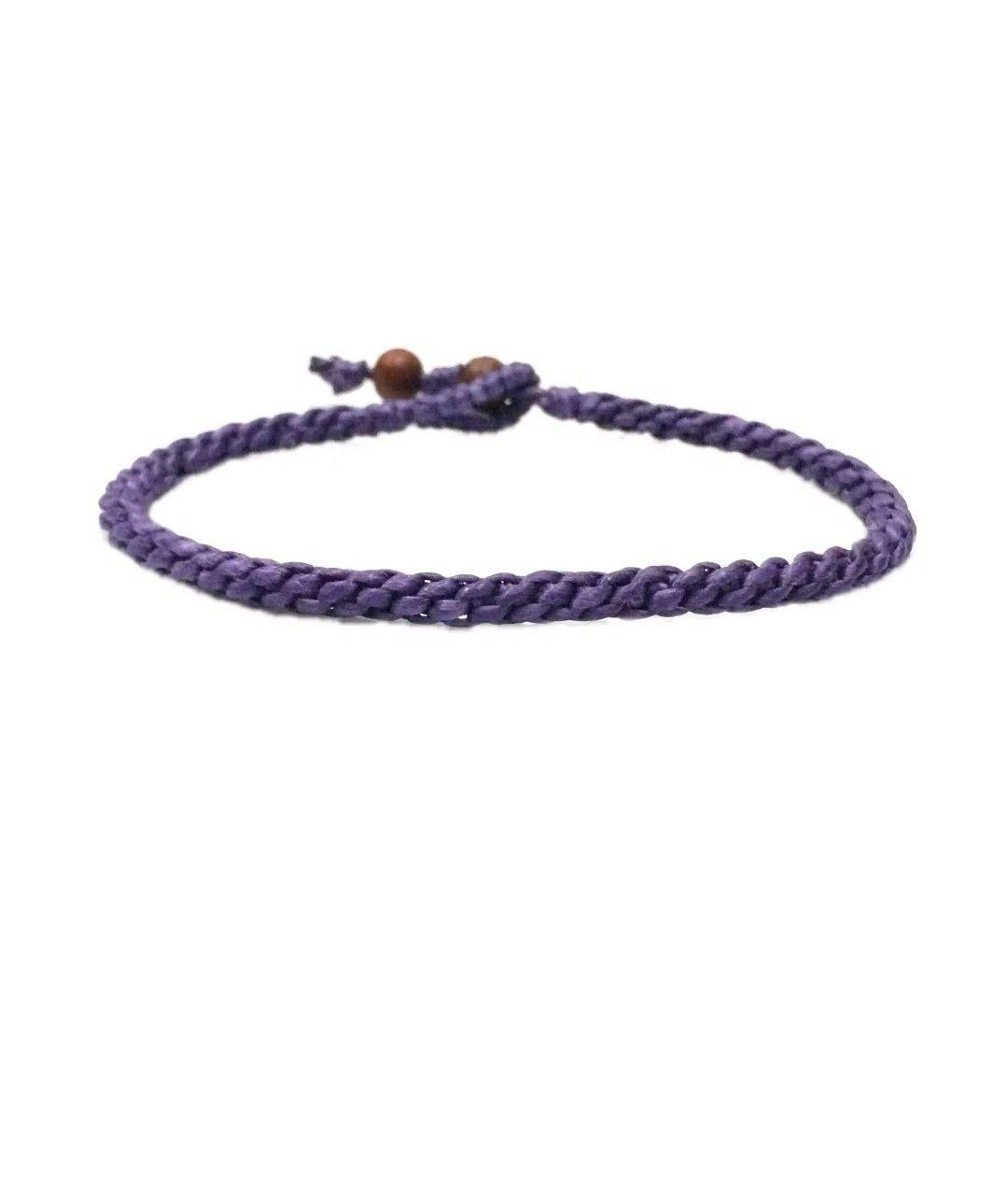 Handmade FAIR TRADE Skinny Waxed COTTON Classic Thai WRISTBAND Bracelet