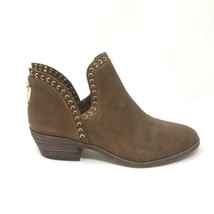 Vince Camuto Womens Size 8 Prafinta Western Style Ankle Bootie Brown Lea... - €46,34 EUR