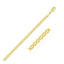 2.3mm 10k Yellow Gold Mariner Link Bracelet - $82.94