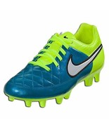Nike Women Tiempo Legacy Firm Ground Soccer Cleats Blue Lagoon Size 7.5 - $50.99