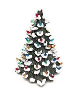 "Ceramic Christmas Tree 10"" w/Lights Vintage Doc Holliday Green Flocked w... - $98.99"